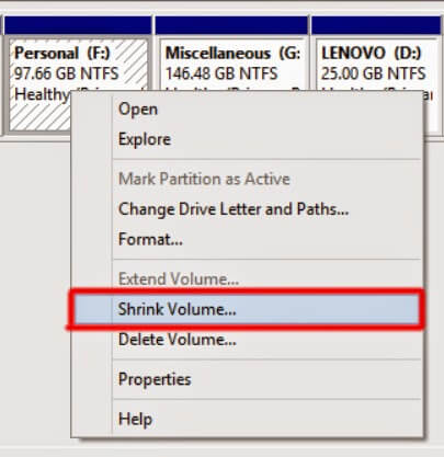 How to partition your Hard Drive quickly? 2
