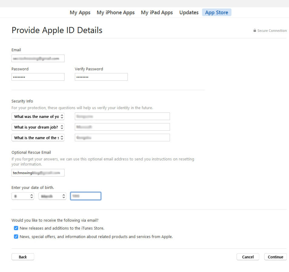 How to create free Apple ID easily in few simple steps? 4