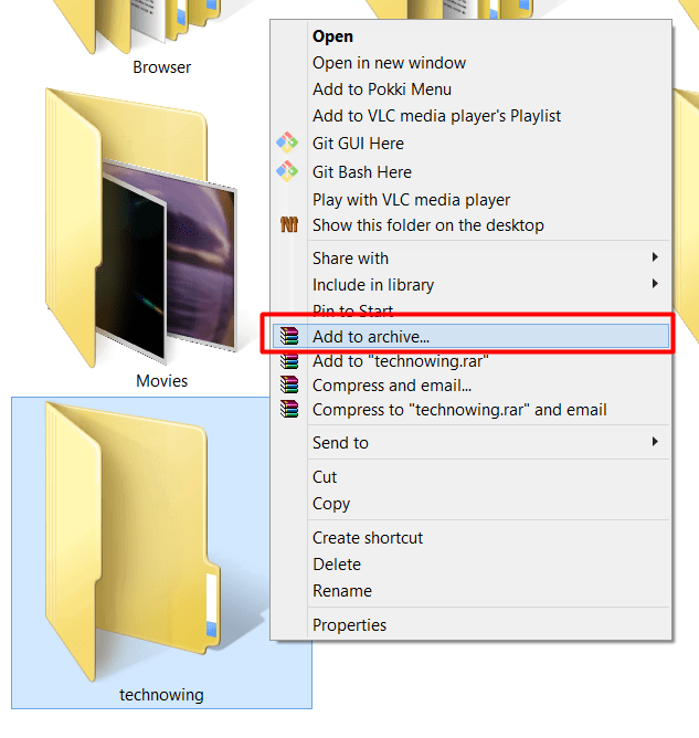 How To Hide Files Under Image? 1