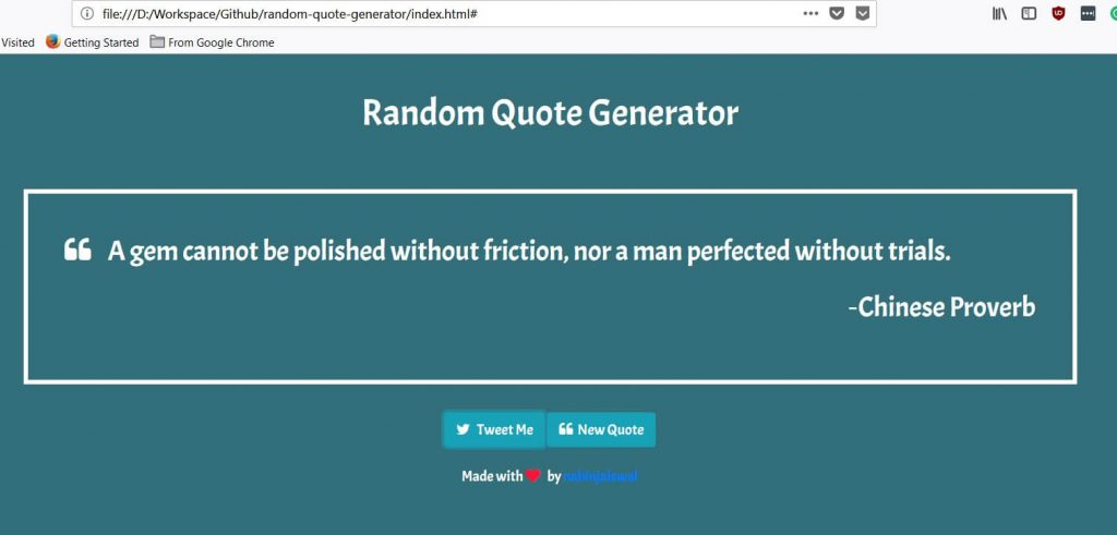 How To Build A Random Quote Generator With JavaScript And HTML Using Stunning Random Quote Generator