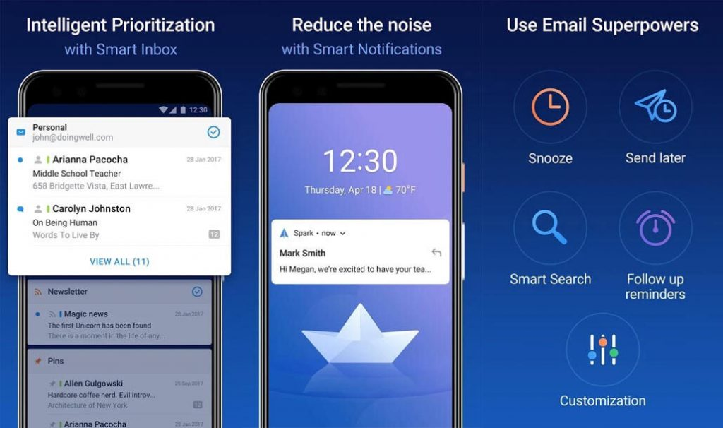 best free android apps - Spark Email App